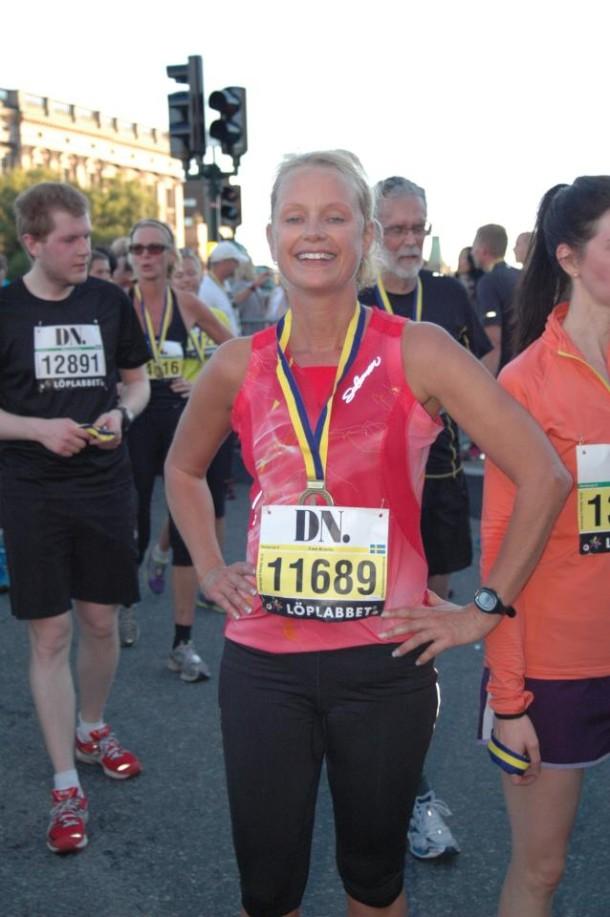 Ewa krantz Stockholm Halvmarathon Finish